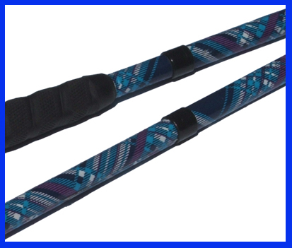 Image of a blue plaid cane makeover design.